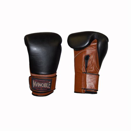 Invincible Fight Gear Pro Hook and Loop Training Gloves 18oz](Hoof Gloves)