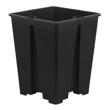Gro Pro Anti-Spiraling Black Plastic Square Pot 7 x 7 x 9 in