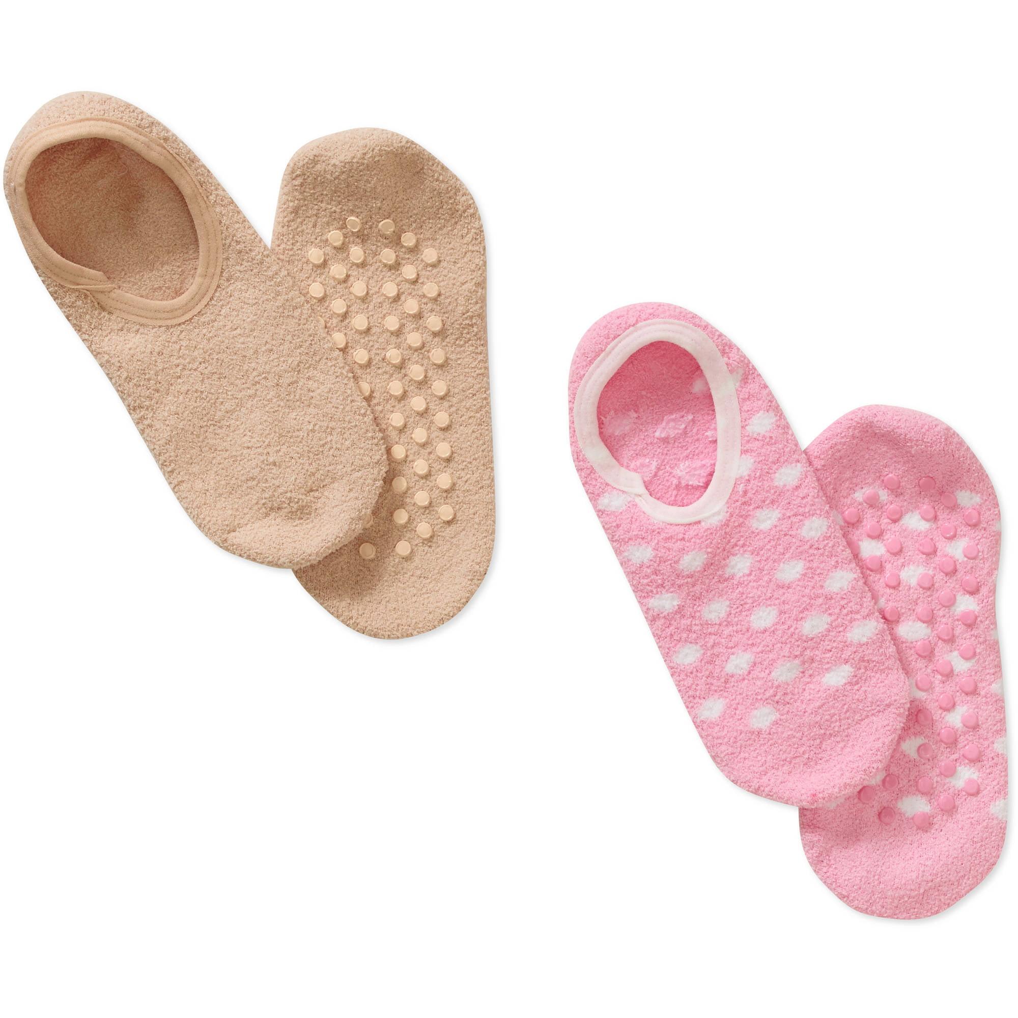 Women's Soft Touch Gripper Sock - 2 Pack