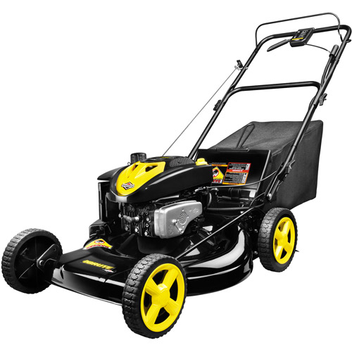 """Brute 22"""" Mulch/Bag/Side Discharge Rear Wheel Drive Electric Start Gas-Powered Lawn Mower"""