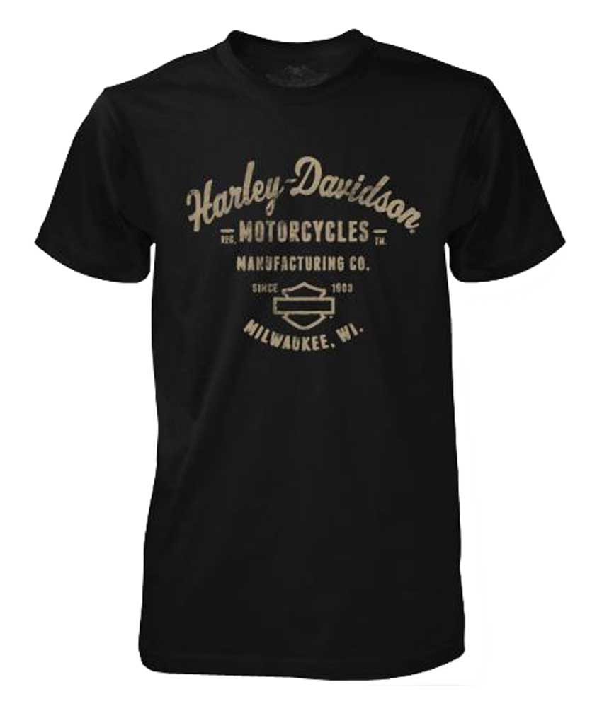 Harley-Davidson Men's Black Label T-Shirt, Manufacturing B&S Tee, Black 30293554 by Bravado