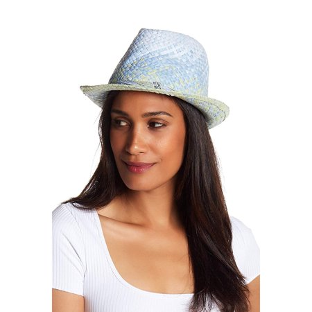 Tommy Bahama Womens Bon Voyage Fedora Hat (Blue Muscari)