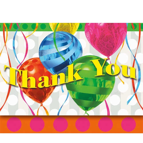 Balloon Brights Thank You Notes