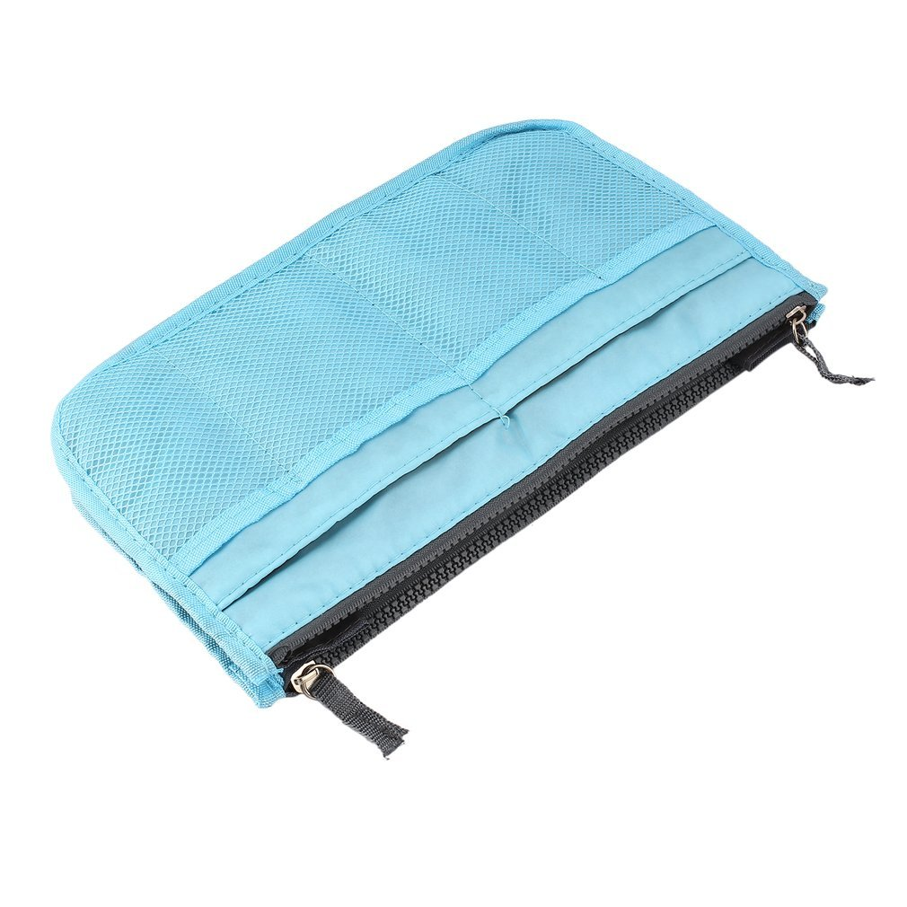 Multifunctional Double Zipper Polyester Makeup Bag Portable Travel Beauty  Cosmetic Bag Make Up Toiletry Bag With Handle 9910b69e2a