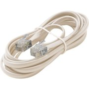 7FT 6-WIRE TEL LN CORD IVORY PREMIUM RETAIL BLISTER PACK