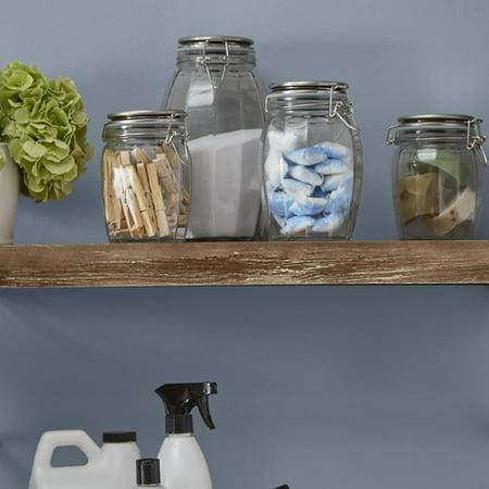 Household Essentials Folding Wood Wall Shelf ()