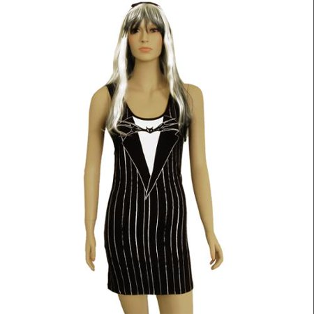 The Nightmare Before Christmas Jack Costume Tank Dress Adult (This Is Halloween Nightmare Before Christmas Instrumental)