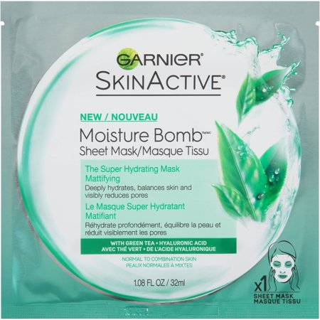 Garnier SkinActive Super Hydrating Face Mask Sheet - Mattifying - 1.08 fl oz