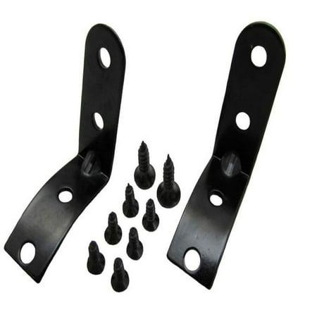2Set Black Glove Box Hinge LID Repair Kit For AUDI A3 S3 8P A4 B6 (Best Gelcoat Repair Kit)