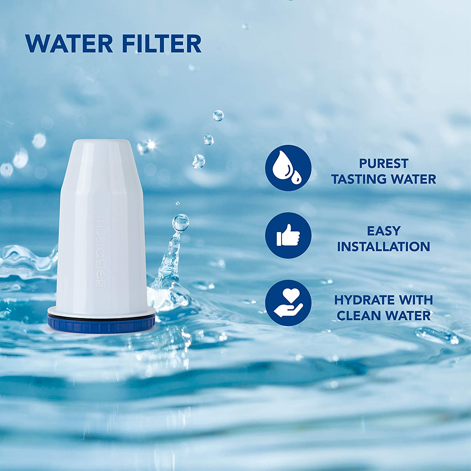 WQA Certified 150 Gallons | Supreme Fast Filtration and Purification Technology Nakii Water Filter Pitcher Long Lasting Metals /& Sediments for Clean Tasting Drinking Water Removes Chlorine