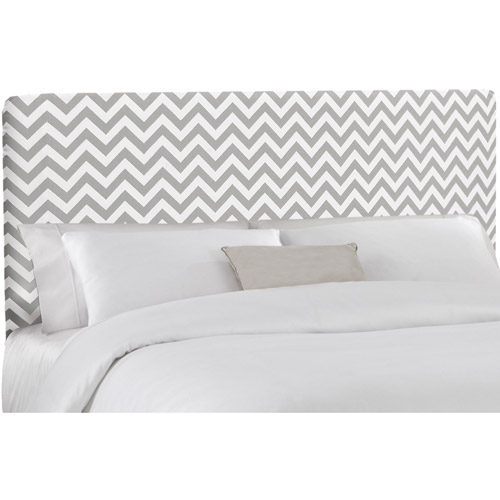 Skyline Furniture Ash/White Zig-Zag Upholstered Headboard, Multiple Sizes
