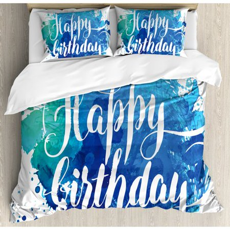 Ambesonne Birthday Decorations Duvet Cover Set