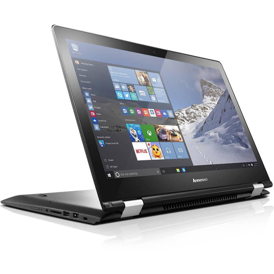 "Lenovo Black 15.6"" Flex 3 80R4000VUS Laptop PC with Intel Core i5-6200U Dual-Core Processor, 4GB Memory, touch screen, 500GB Hard Drive and Windows 10 Pro"
