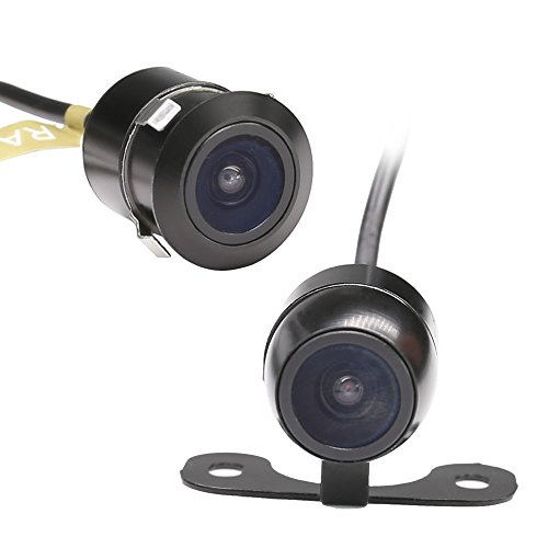 Reverse Backup Camera RAAYOO L002 2-in-1 Universal Car Front//Side//Rear View 2