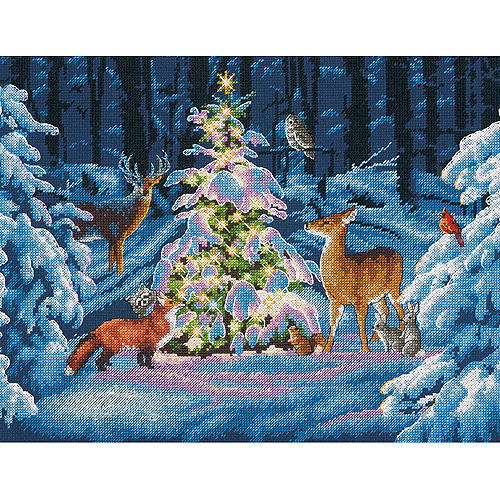 "Woodland Glow Counted Cross Stitch Kit, 14"" x 11"", 14-Count"