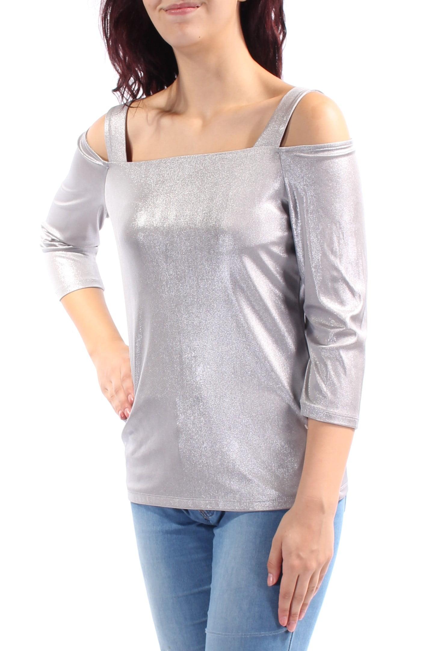 INC Womens Colorblock Surplice Long Sleeves Blouse Top BHFO 9833