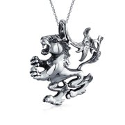 Astrology Horoscope Zodiac Sign Pendant Necklace for Men Women Oxidized Antiqued 925 Sterling Silver All Constellation