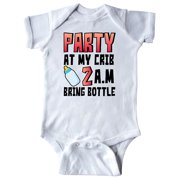 Party at My Crib 2 a.m. Bring Bottle Baby Humor Infant Creeper