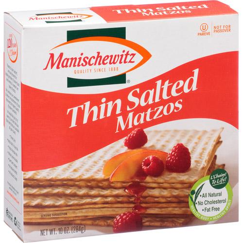 Manischewitz Thin Salted Matzos, 10 oz, (Pack of 12)
