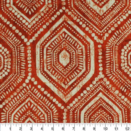 """Berkshire Home Polyester 54"""" Indoor/Outdoor Lbiza Flame Fabric, per Yard"""