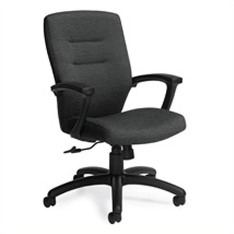 Global Synopsis Medium Back Tilter Office Chair in Black ...