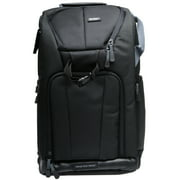 Vivitar Series One Digital SLR Camera/Laptop Sling Backpack - Large (Black) Holds Most 17 in Laptops