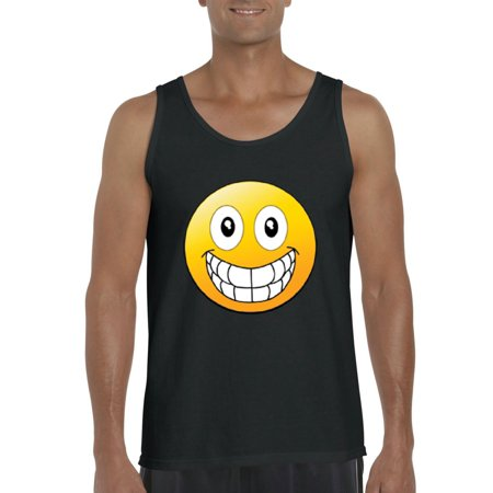 Big Smile Emoji   Mens Tanks
