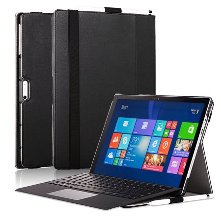 for Surface Pro 4 Case, New Surface Pro 2017 Case, PU Leather Flip Folio Protective Stand Case for Microsoft New Surface Pro 2017 / Pro 4 Compatible Type Cover Keyboard Pen Holder,
