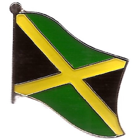 Jamaica Flag Lapel Pin - PACK of 3 Jamaica Single Flag Lapel Pins, Jamaican Pin Badge