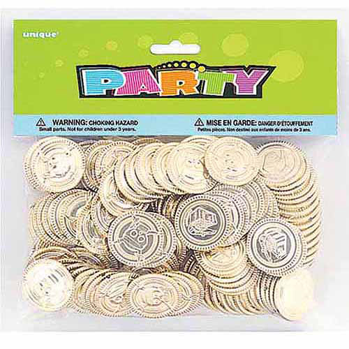 Pirate Treasure Gold Coins, 144-Count