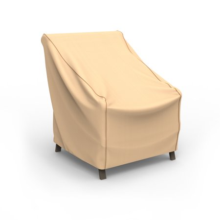 Budge XSmall Tan Patio Outdoor Chair Cover, NeverWet®
