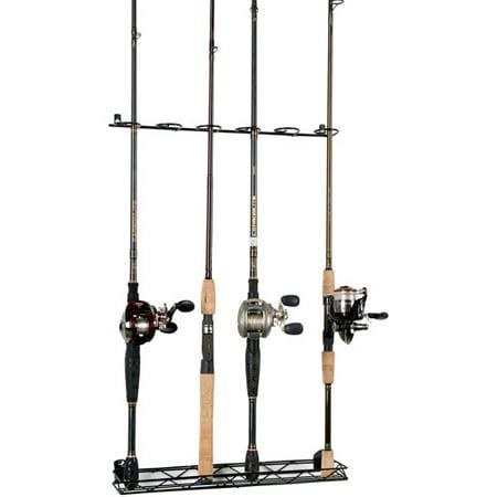 Organized fishing wire vertical rod rack for Fishing rod holders walmart
