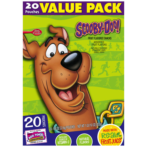 Betty Crocker? Scooby-Doo!? Fruit Flavored Snacks 20-0.8 oz. Pouches