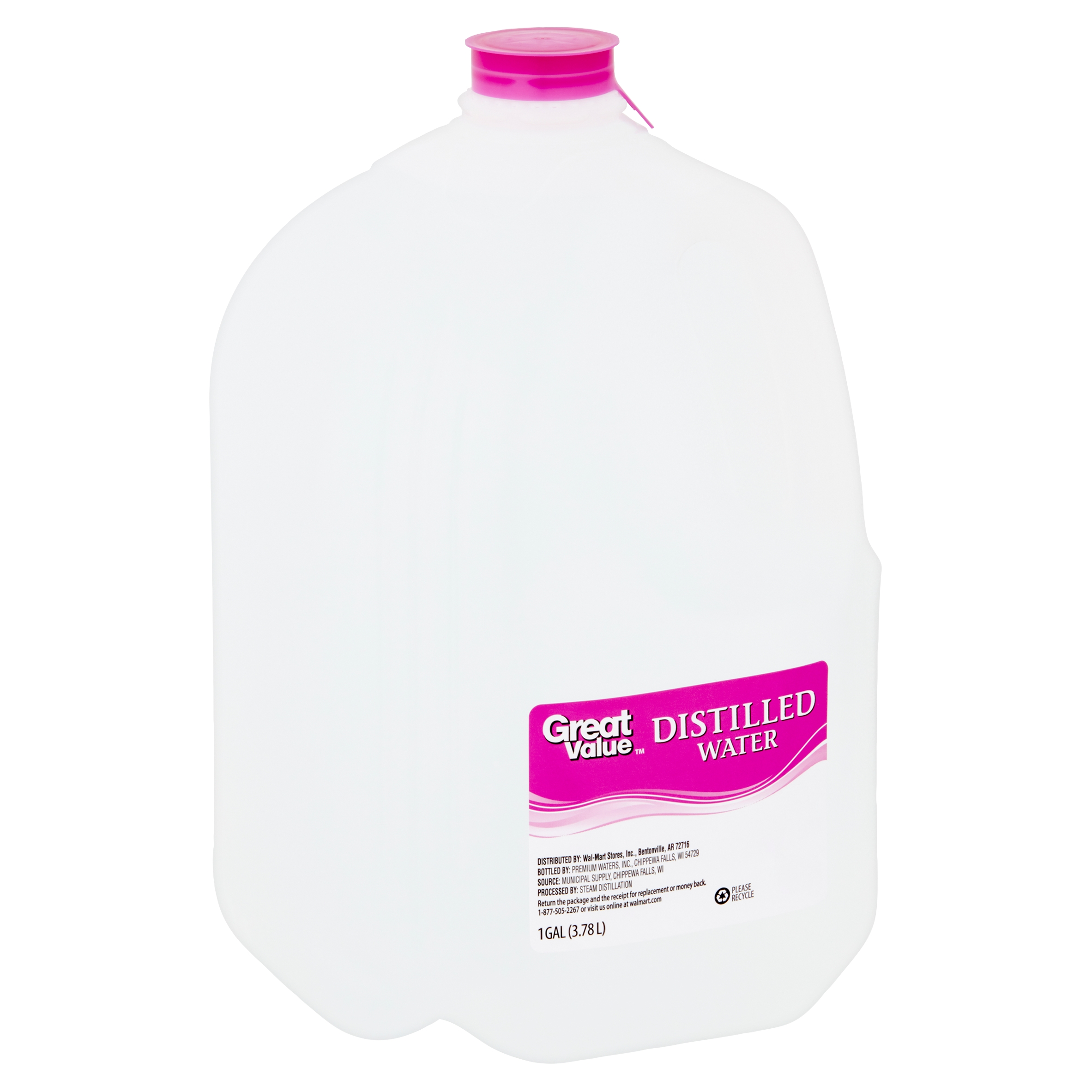 Great Value Distilled Water, 1 Gallon