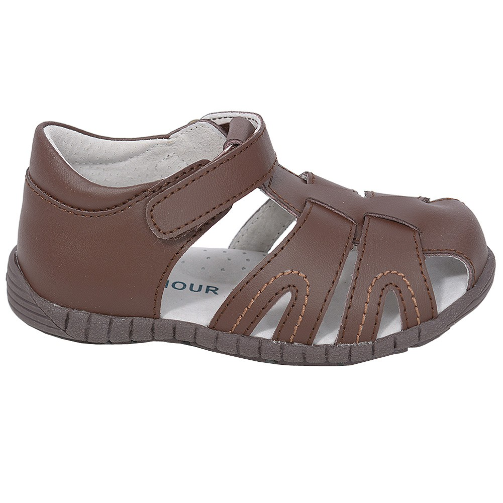 L'Amour Brown Fisherman Closed Heel Sandals Little Boys 11-1