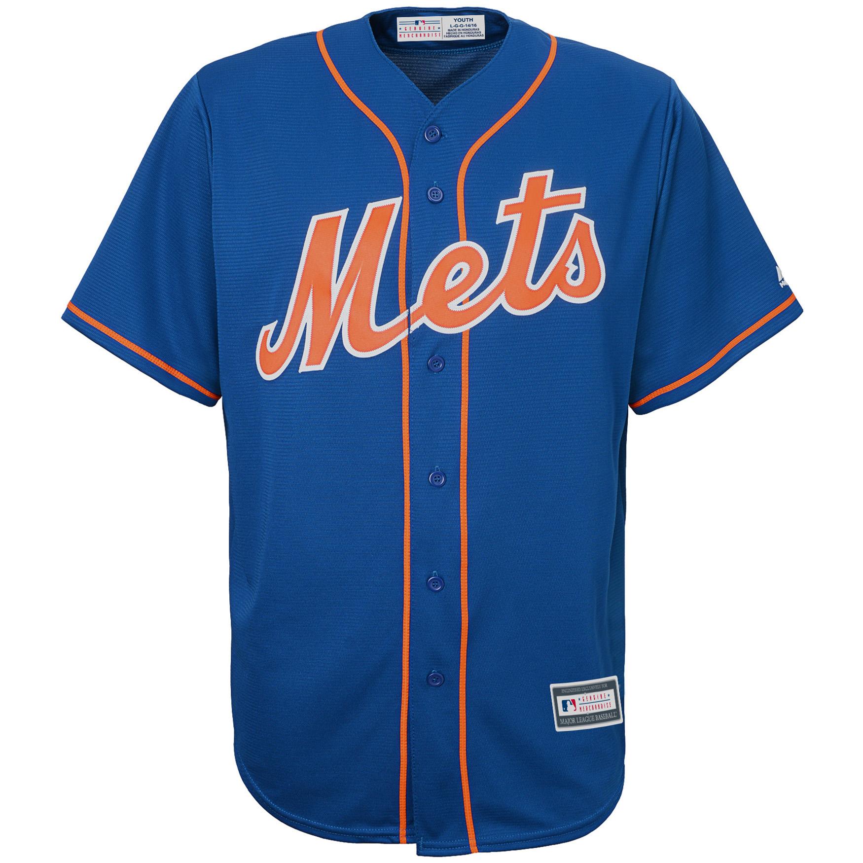 uk availability b8001 83f02 New York Mets Youth Alternate Replica Blank Team Jersey - Royal