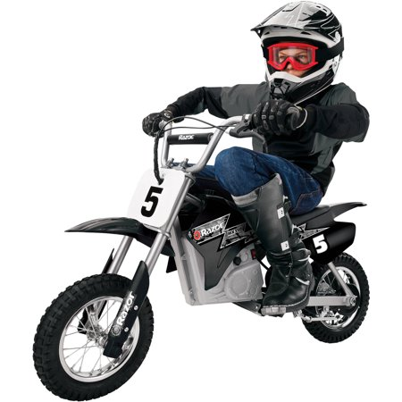 Splatter Motorcycle - Razor MX350 24-Volt Dirt Rocket Electric Motocross Bike