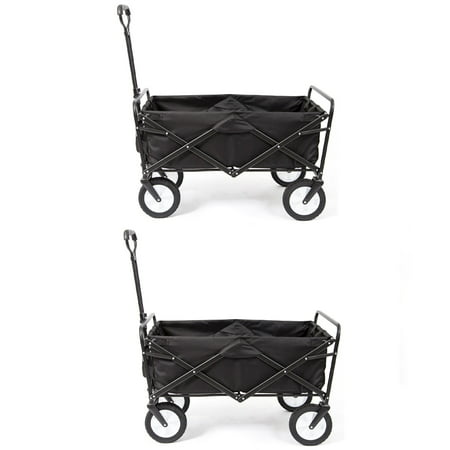 Mac Sports Collapsible Folding Frame Outdoor Garden Utility Wagon Cart (2 (Mac Sports Collapsible Folding Outdoor Utility Wagon)