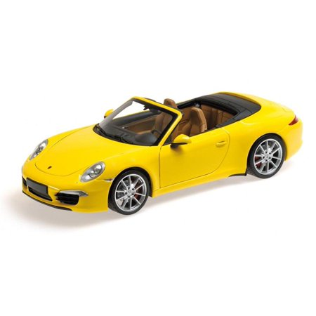 2012 Porsche 911 Carrera S Cabrio (991) Yellow Limited to 750pc 1/18 Diecast Car Model by
