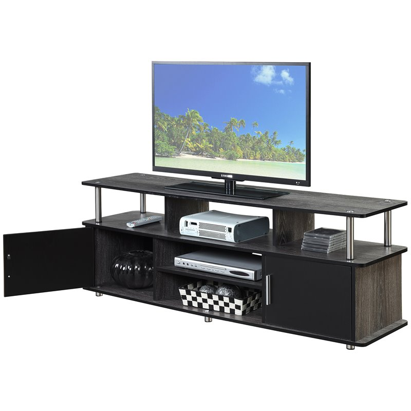 """Convenience Concepts Designs2Go 60"""" Monterey TV Stand in Weathered Gray - image 2 of 3"""