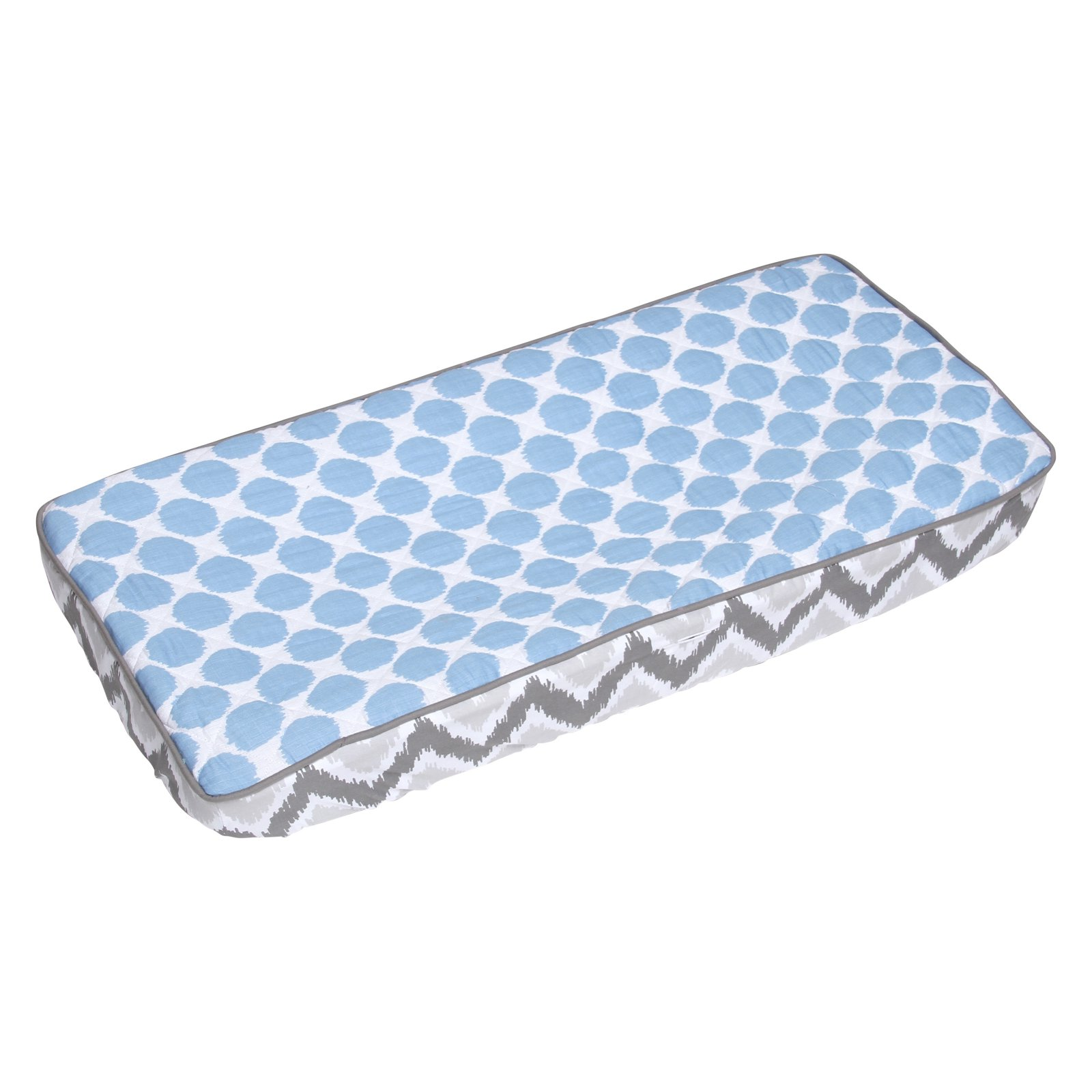 Bacati Ikat Zigzag and Dots Changing Pad Cover