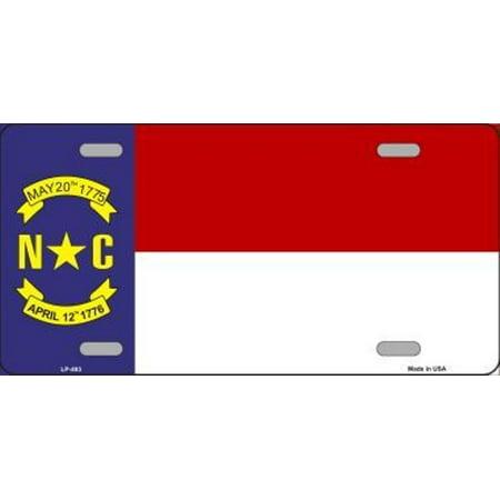 North Carolina State Flag Metal License (North Carolina License Plate Office)