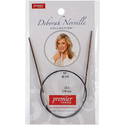 "Premier Yarns Deborah Norville Fixed Circular 16"" Needles"