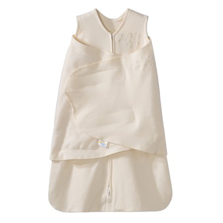 HALO SleepSack Swaddle, Cotton, Cream, Small