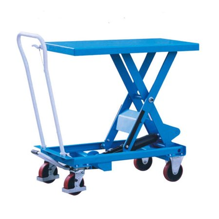 - Heavy Duty Mobile Hydraulic Scissor Lift Table Carts Dolly with Foot Pump,330LB
