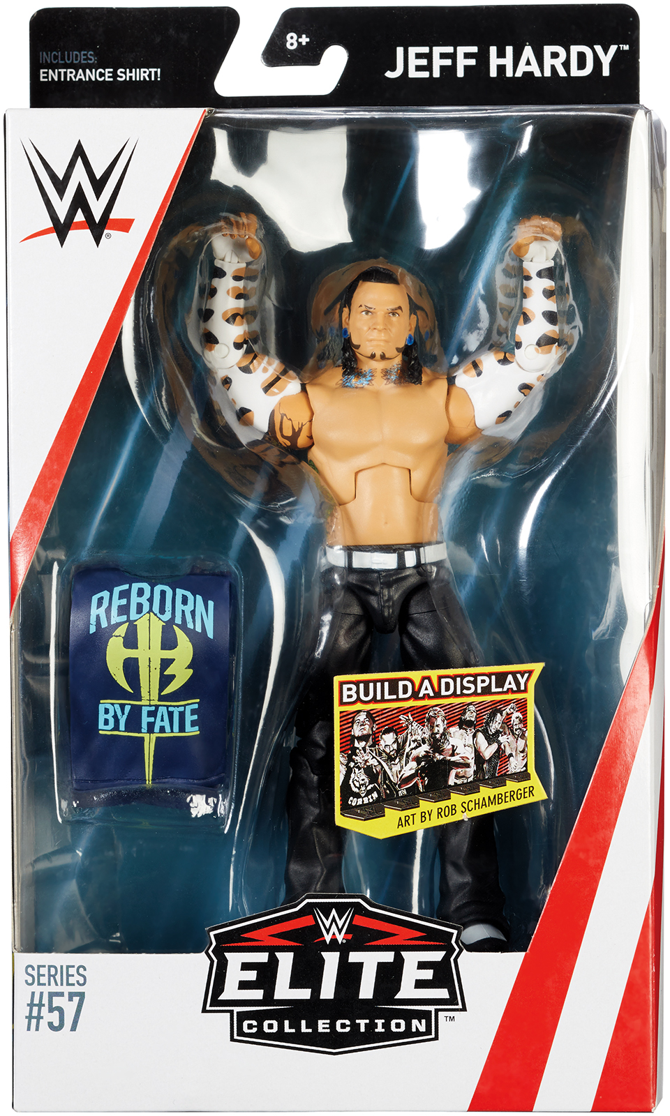 Jeff Hardy WWE Elite 57 Toy Wrestling Action Figure by Mattel