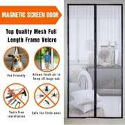 Hands-Free Screen Door Net Mesh Screen Bug Pet Patio Magnetic Closer Hands Free Curtain