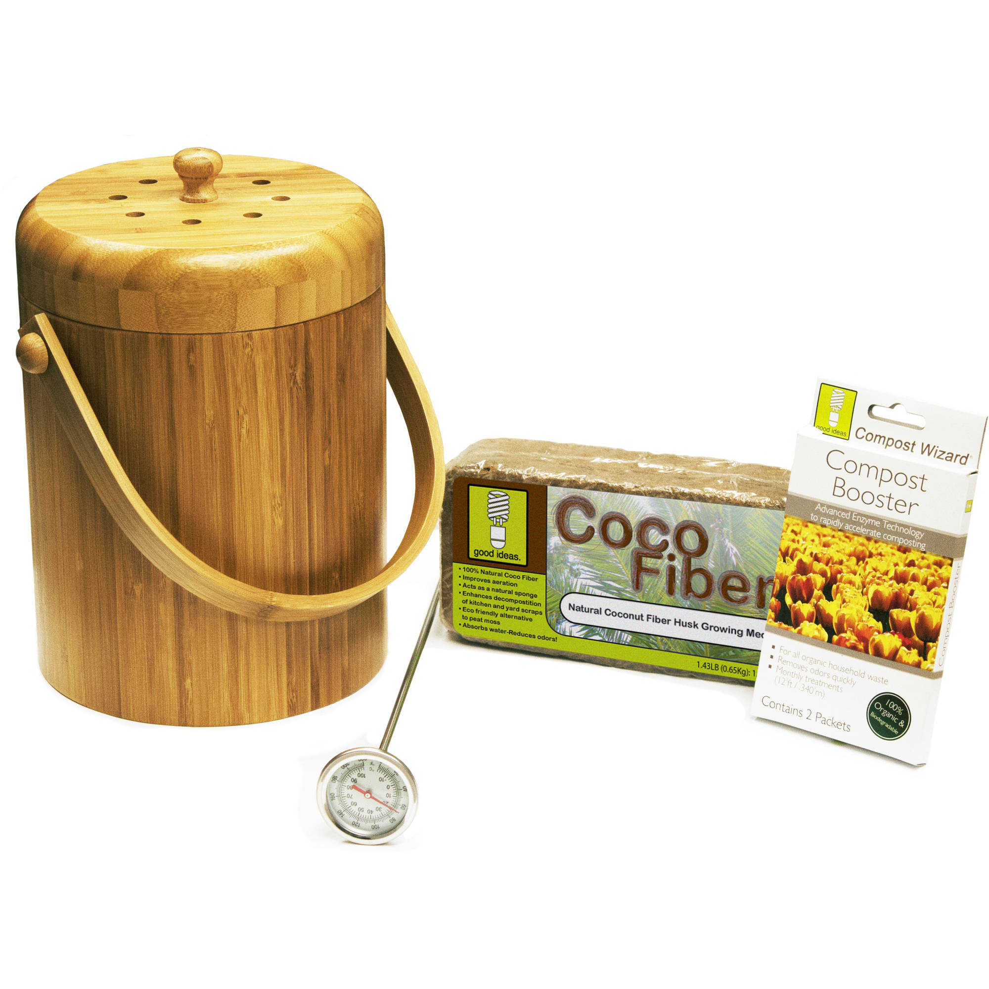 Compost Wizard Essentials Kit, Bamboo by Good Ideas, Inc.