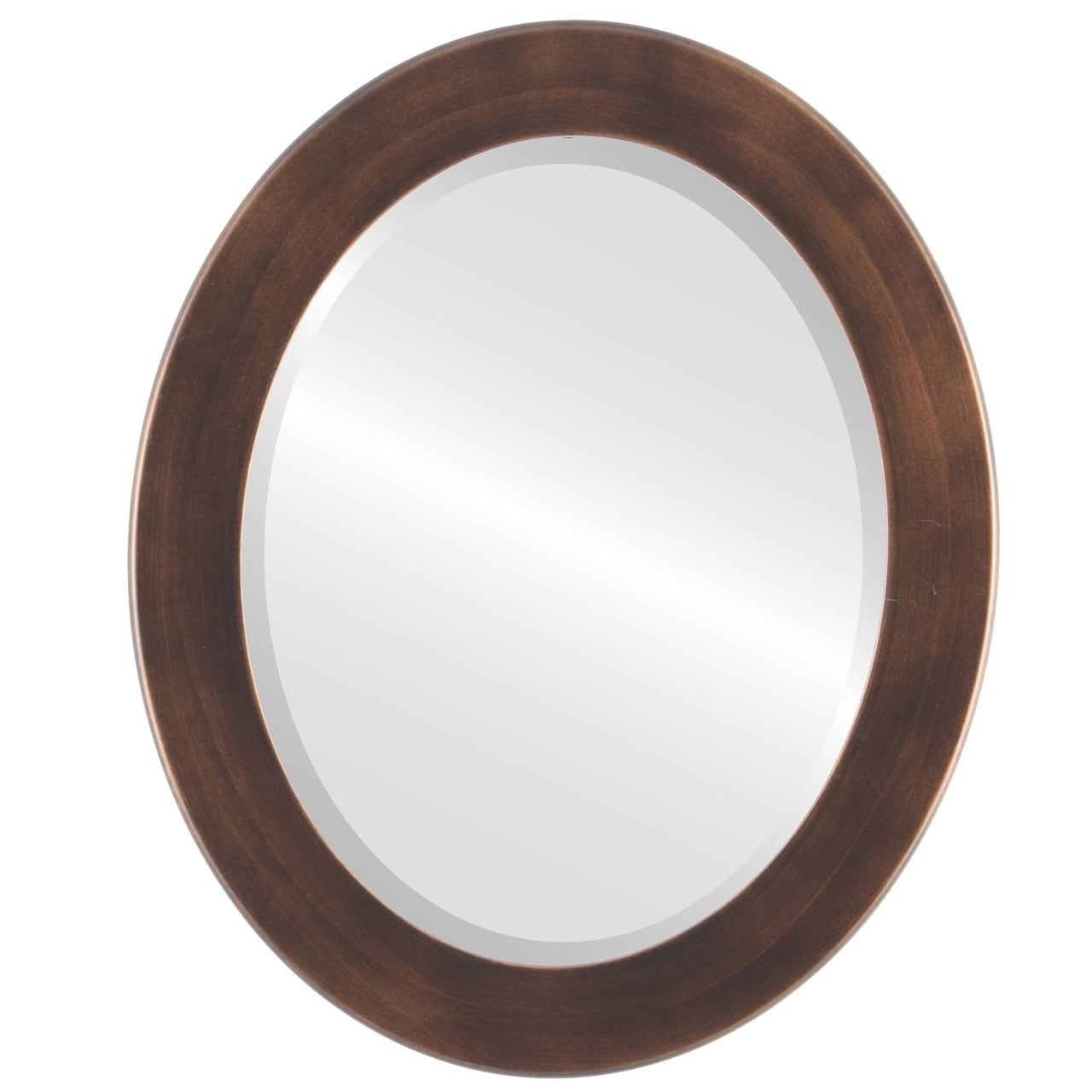The Oval and Round Mirror Store Avenue Framed Oval Mirror in Rubbed Bronze Antique Bronze by Overstock