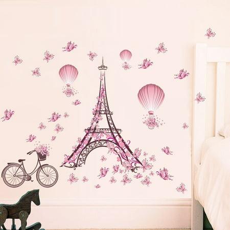 Home Decor Bedroom Removable Paris Eiffel Tower Art Decal Wall Sticker DIY Mural